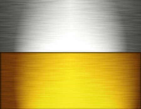 brushed aluminium: silver and gold Stock Photo