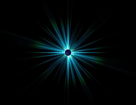 irradiate: blue star