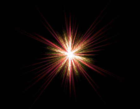 irradiate: red star