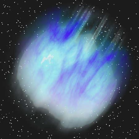 asteroid: blue asteroid Stock Photo