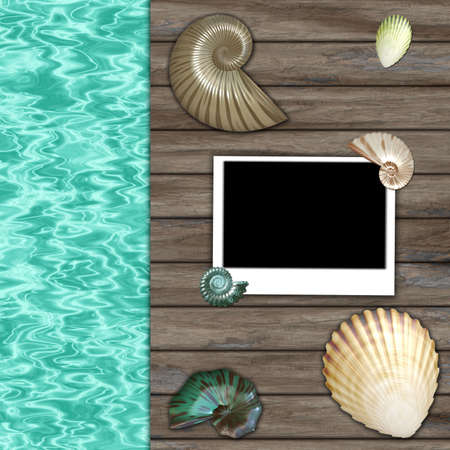 summer photo frame  Stock Photo - 11678657