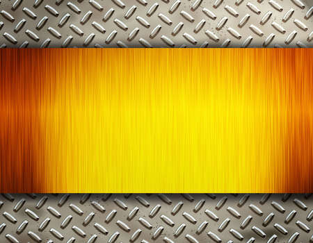 diamond in the rough: metal plate Stock Photo