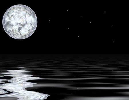 ciclo del agua: luna llena Foto de archivo