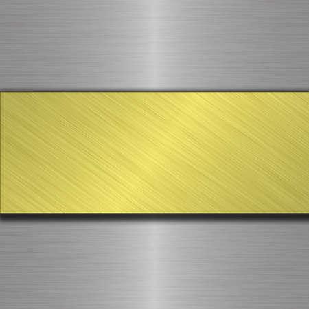 polished floor: metal plate Stock Photo