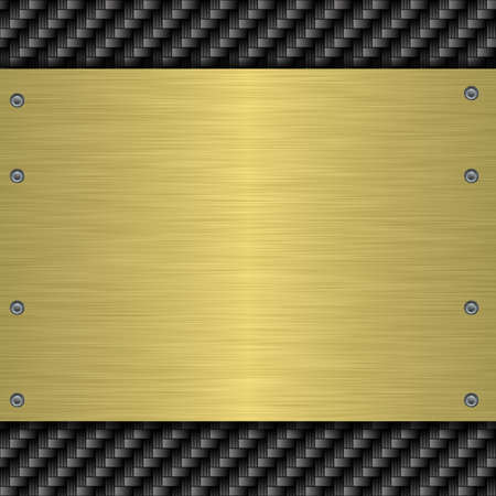 brushed metal: metal plate Stock Photo