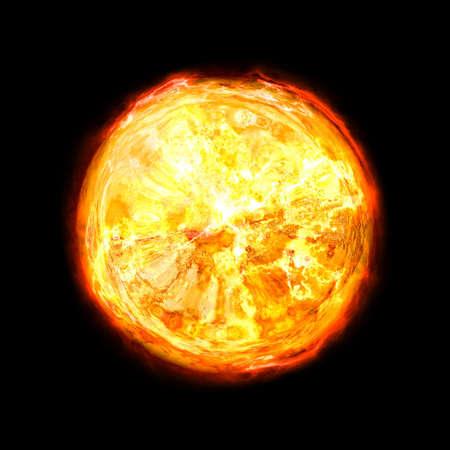 contrastive: hot sun Stock Photo