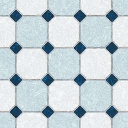 mosaic floor: blue ceramic