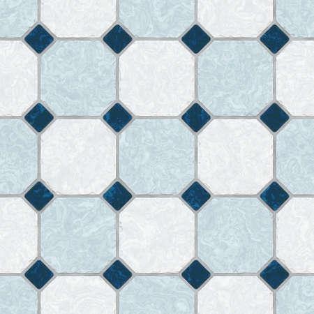 mosaic floor: blue ceramic