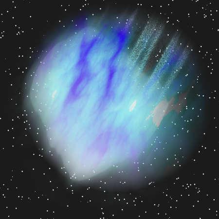 blue asteroid photo