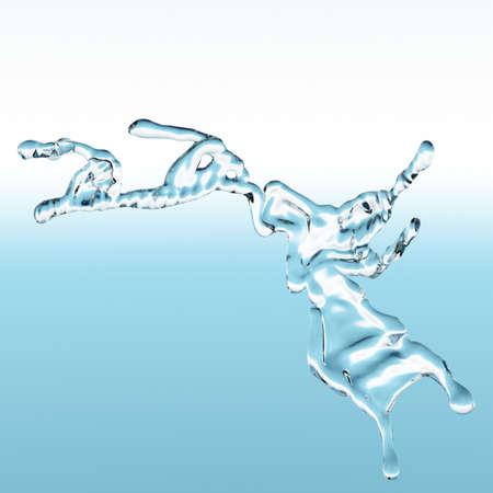 spewing: water splash Stock Photo