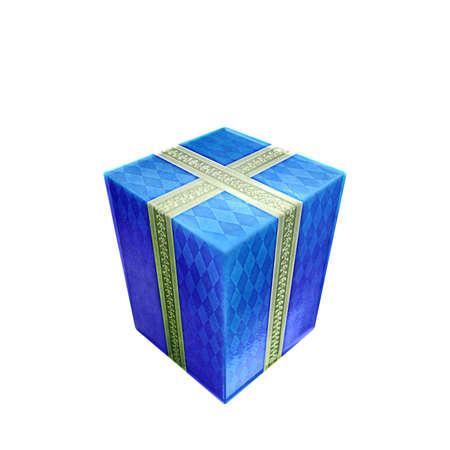 blue present Stock Photo - 12500910