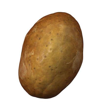 potato on white Stock Photo - 12500928