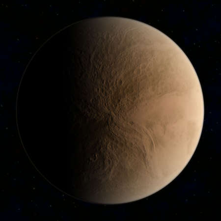 brown planet Stock Photo