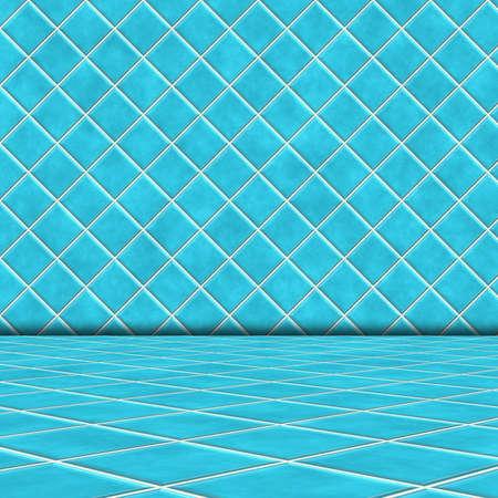 blue ceramic  room photo