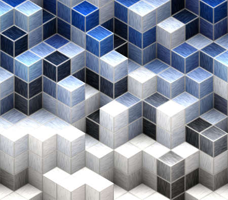 blue cubes Stock Photo - 20137879