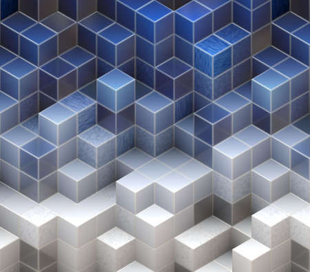 blue cubes Stock Photo - 20137863