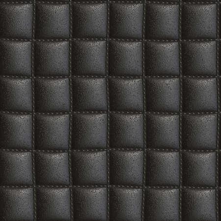 upholster: black leather