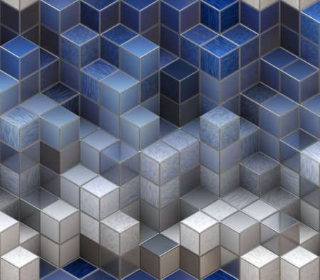 backgrounds: blue cubes Stock Photo