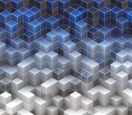 blue cubes Stock Photo - 20682729