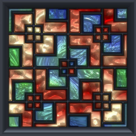 mosaic window Stock Photo - 21953770