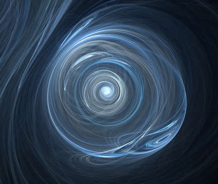 spacetime: blue fractal Stock Photo