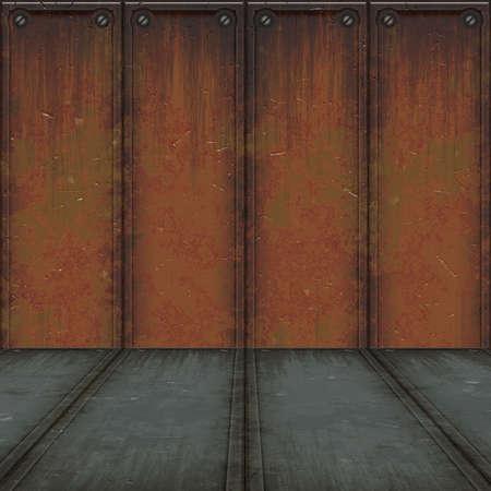 metal room Stock Photo