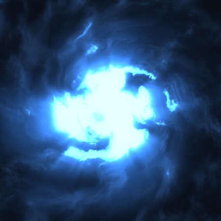 blue storm Stock Photo