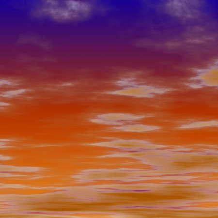 red sky Stock Photo