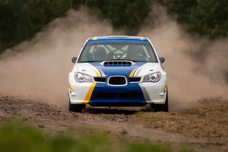 subaru: Rally car in action - Subaru Impreza