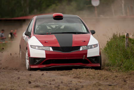 typer: Rally car in action