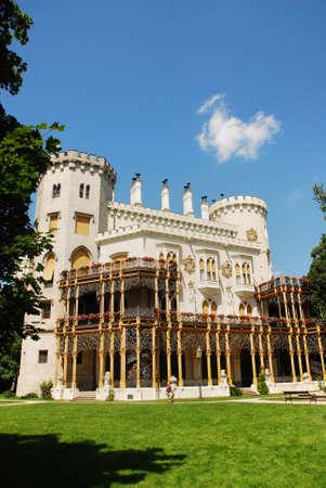 nad': The castle of Hluboka nad Vltavou Editorial
