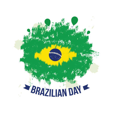 Brazilian Day Vector Illustration. Suitable for Greeting Card, poster and banner. 向量圖像