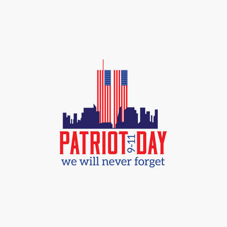 Patriot Day, American Flag. Patriot Day September 11, 2001. Design template, we will never forget, Vector illustration for Patriot Day Illustration
