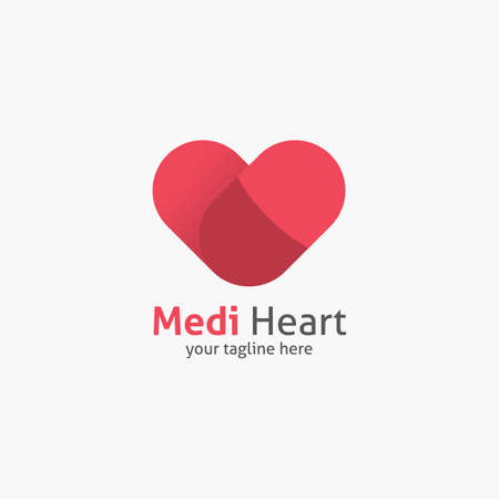 heart shape logo design vector template corporate branding identity