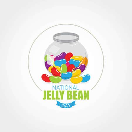 National Jelly Bean Day Vector Illustration 向量圖像