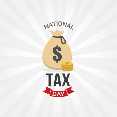 National Tax Day Vector Illustration