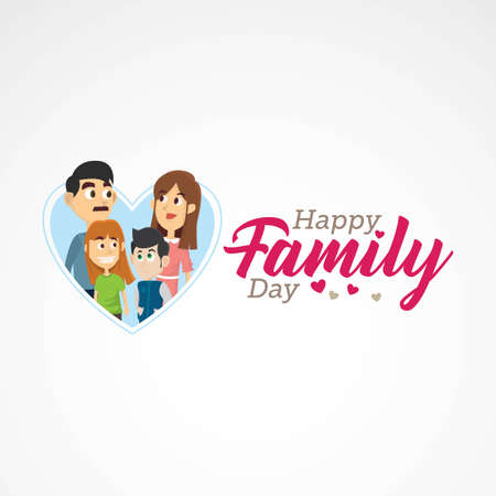 Happy Family Day Vector Illustration Stock Vector - 73174992