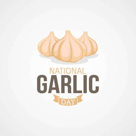National Garlic Day Vector Illustration