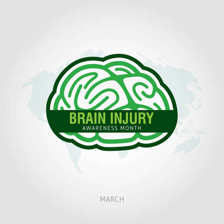 Brain Injury Awareness Month Vector Illustratie