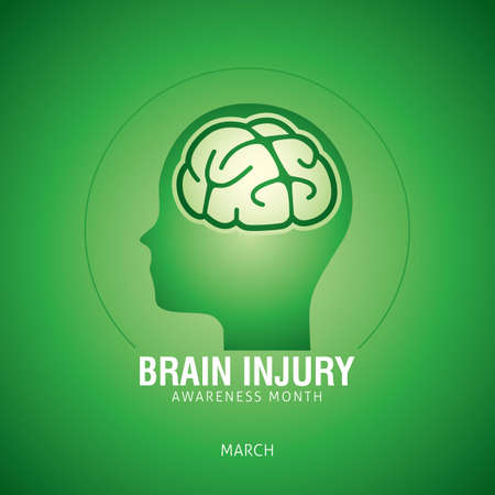 Brain Injury Awareness Month Vector Illustration