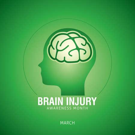 Gehirn Verletzung Bewusstsein Monat Vektor-Illustration Standard-Bild - 73175026