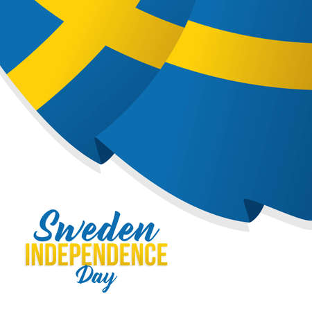 Sweden Independence Day  Vector Illustration