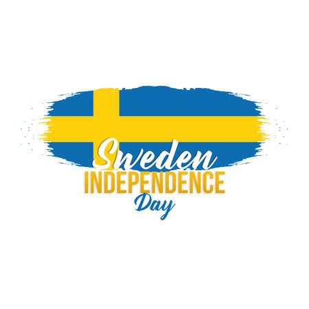 bandera de suecia: Ilustración del vector del día de la independencia de Suecia