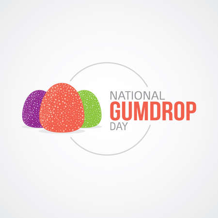 National Gumdrop Day Vector Illustration Illustration
