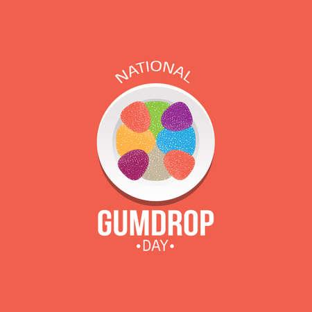 National Gumdrop Day Vector Illustration Illustration