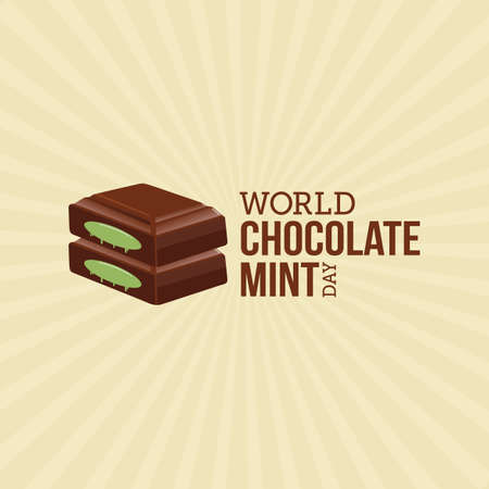 World Chocolate Mint Day  Vector Illustration