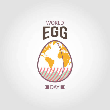 World Egg Day Vector Illustration. Suitable for greeting card, poster and banner.