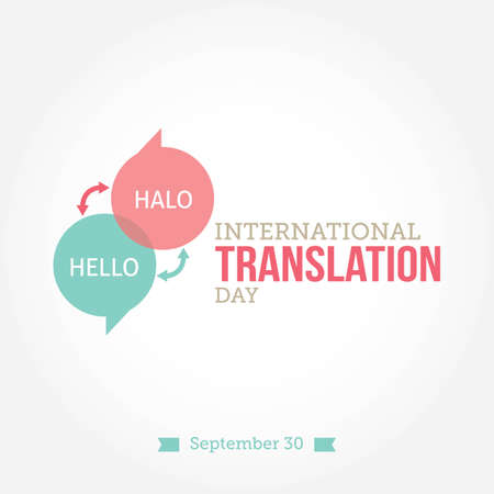 International Translation Day Vector Illustration. Suitable for greeting card, poster and banner. 向量圖像