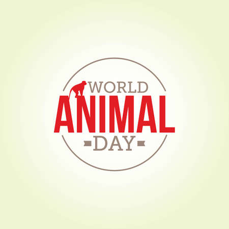 World Animal Day Vector Illustration. Suitable for greeting card, poster and banner. 向量圖像