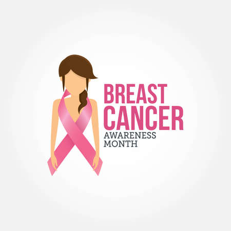 Breast Cancer Awareness Month Vector Illustration. Suitable for greeting card, poster and banner. 向量圖像